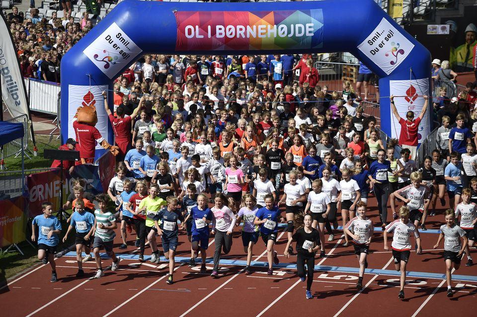 Skole OL-finaler 2018 i Aarhus. Billedet må udelukkende bruges i forbindelse med omtale af Skole OL. Fotokredit: Lars Møller.