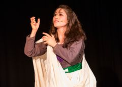 Afghan playwright and actor Monirah Hashemi had to leave Afghanistan after death threats.