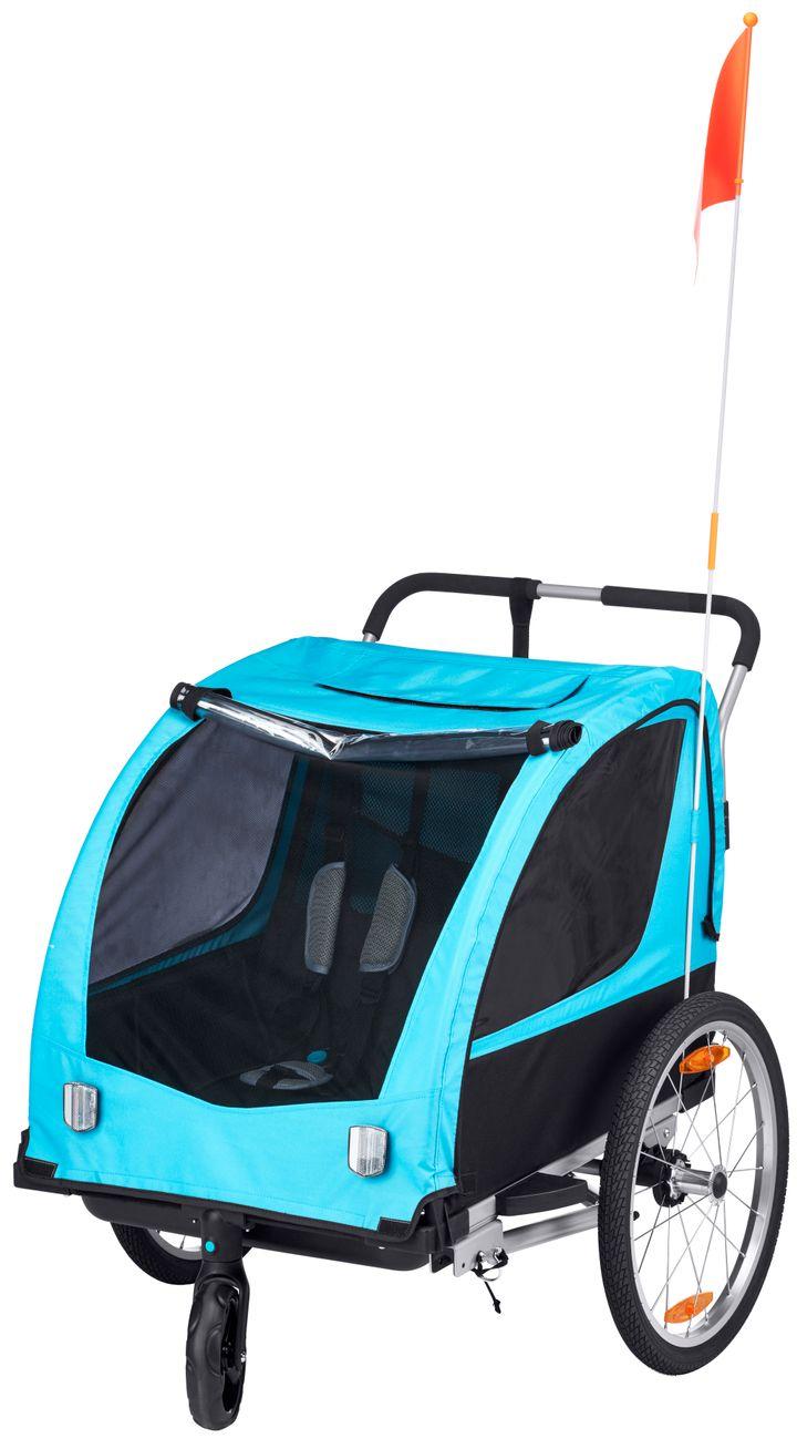 Biltema opfordrer alle kunder, der har købt Cykelvogn med artikelnummer 27-2099, til at indlevere produktet i nærmeste varehus. Foto: PR.