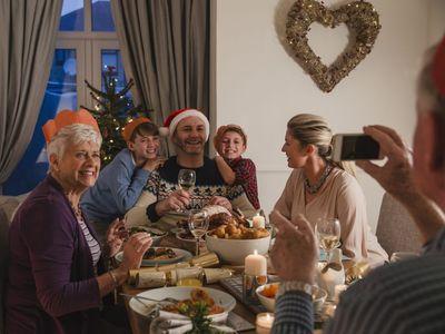 Vi lagde mobilen væk, da juleanden kom på bordet