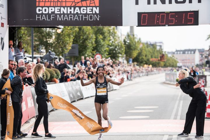 Sifan Hassan set a new European Record at the CPH Half. (Photo: Zuzana Zeminová)