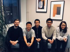 The Sunmapper team, from left: Maxim Khomiakov, William Dashan Gan, Diem Hoang Nguyen, Mingjia Shi, Angela Euscher